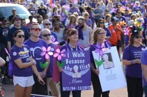 A conference call can provide group support for caregivers, when a march isn't possible - photo credit Alzheimer's Association Miami Valley Chapter